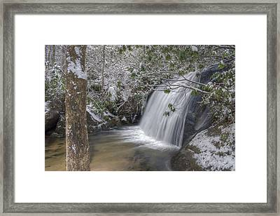 Wintery Frolictown Falls Framed Print by Stephen Gray