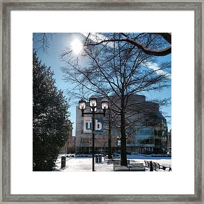Framed Print featuring the photograph Wintery Gordon Plaza  by Toni Martsoukos
