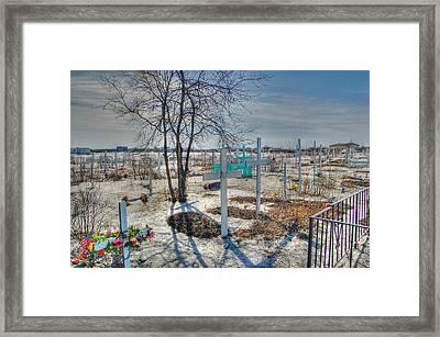 Wintery Grave Framed Print