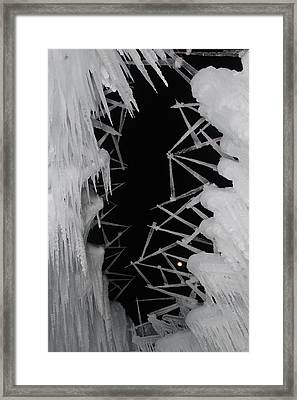 Wintery Ice Farming  Framed Print