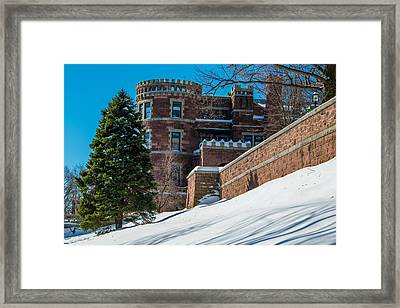 Wintery Lambert Castle Framed Print by Anthony Sacco