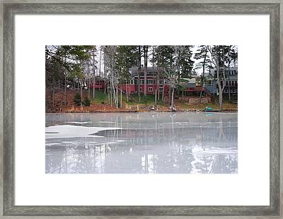 Wintery Reflection Framed Print
