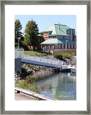 Framed Print featuring the photograph Winthrop Harbor Shore by Debbie Hart