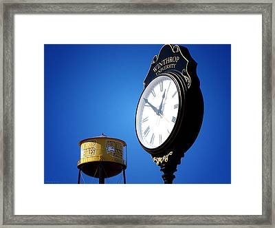 Framed Print featuring the photograph Winthrop Time by Greg Simmons