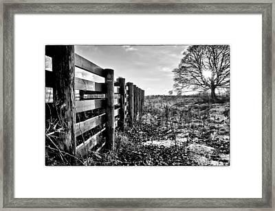 Wintry Afternoon Framed Print by Jean-Noel Nicolas