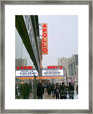 Wintry Day At The Apollo Framed Print by Ed Weidman