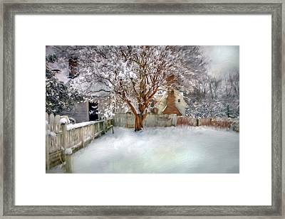 Wintry Garden Framed Print