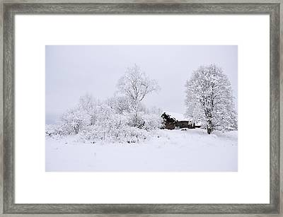 Wintry Landscape Framed Print by Conny Sjostrom