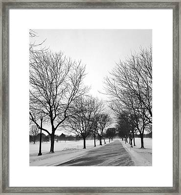 Windy Road Framed Print