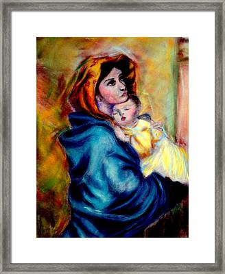 Mondonna Of The Street By Roberto Ferrizzi, Rendition In Pastel Antonia Citrino,  Sold.        Framed Print