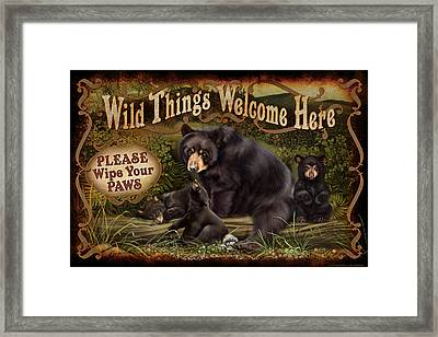 Wipe Your Paws Framed Print