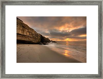 Wipeout Beach Sunset Framed Print by Peter Tellone