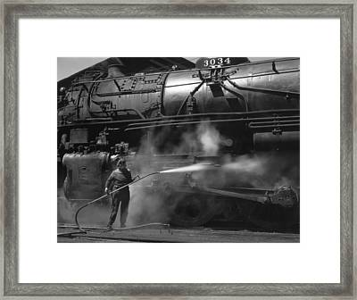 Wiper In Clinton Iowa 1943 Framed Print by Mountain Dreams