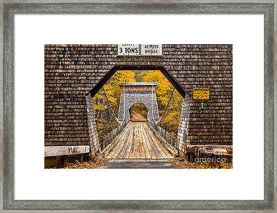 Wire Bridge Framed Print by Benjamin Williamson