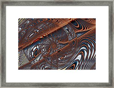 Wire Gnarl And Spokes Framed Print