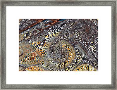 Wire Gnarls Detail Framed Print