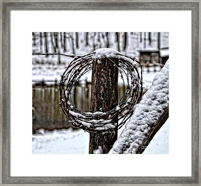 Framed Print featuring the photograph Wired by Brenda Bostic