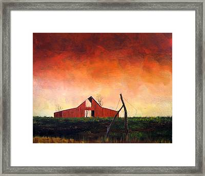 Framed Print featuring the painting Wired Down by William Renzulli