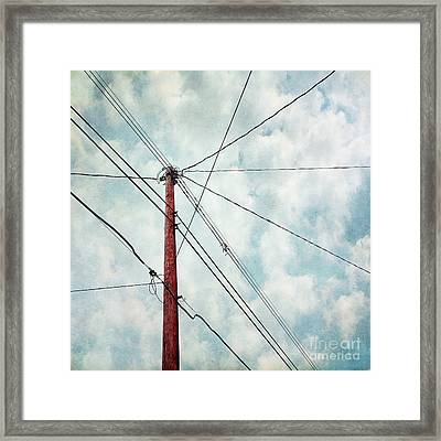 Wired Framed Print by Priska Wettstein