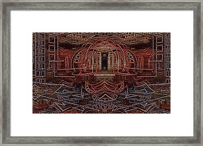 Wireframe Of Thunderdome Framed Print by Ricky Jarnagin