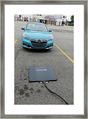 Wireless Vehicle Charging System Framed Print