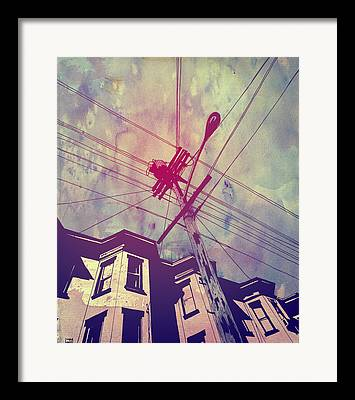 Telephone Wires Framed Prints