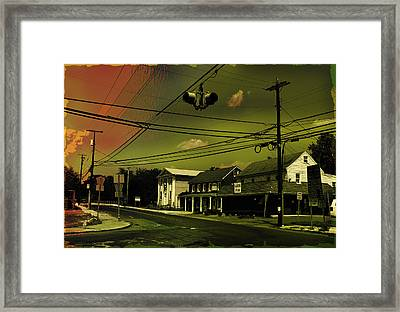 Wires In The Sky Framed Print by Alexei Biryukoff