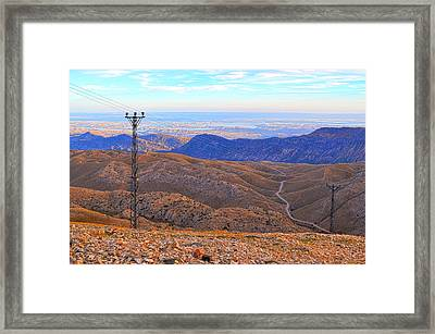 Wires Framed Print by Rabiri Us