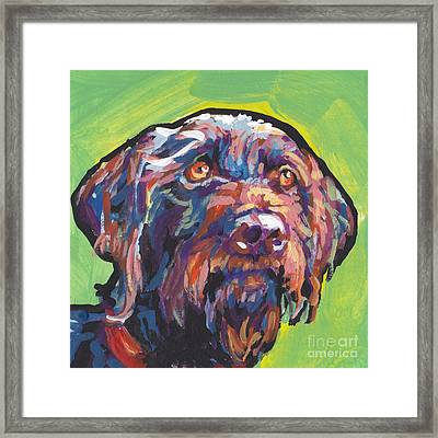 Wirey And Wild Framed Print by Lea S