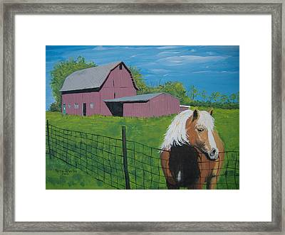 Wisconsin Barn Framed Print by Norm Starks