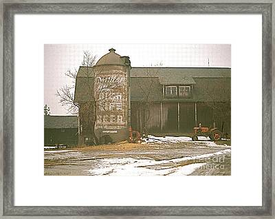 Wisconsin Barn With Silo Framed Print