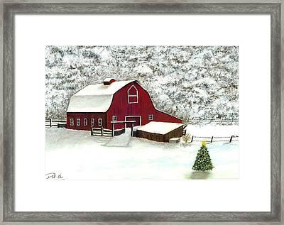 Wisconsin Christmas Framed Print