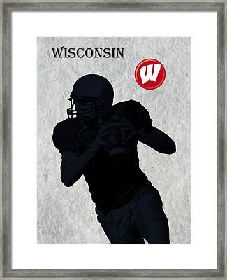 Wisconsin Football Framed Print by David Dehner