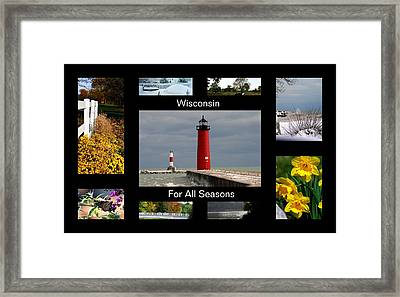 Framed Print featuring the photograph Wisconsin For All Seasons by Kay Novy