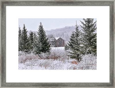 Framed Print featuring the photograph Wisconsin Frost by Trey Foerster