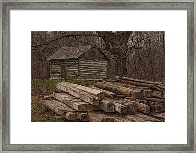 Wisconsin Rustic Framed Print