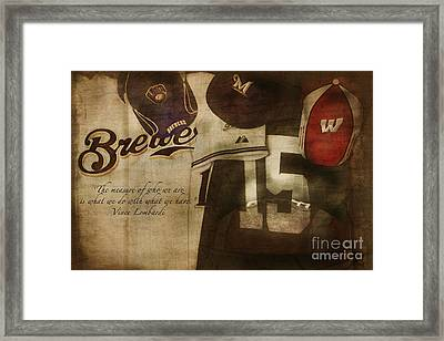 Wisconsin Sports Framed Print