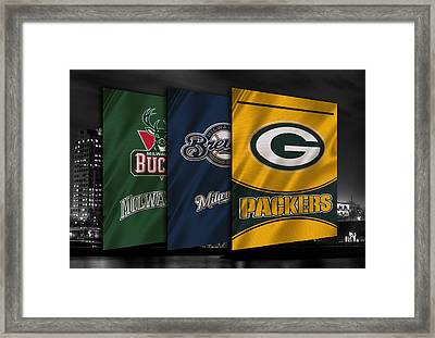 Wisconsin Sports Teams Framed Print