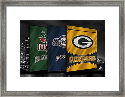 Wisconsin Sports Teams Framed Print by Joe Hamilton