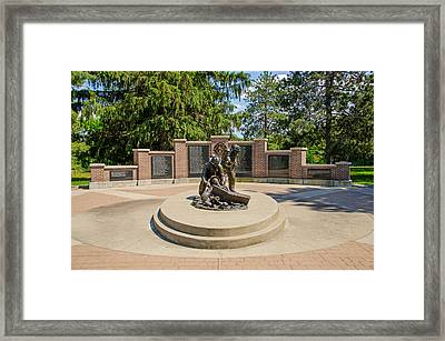 Framed Print featuring the photograph Wisconsin State Firefighters Memorial 1 by Susan  McMenamin