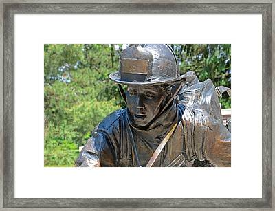 Framed Print featuring the photograph Wisconsin State Firefighters Memorial 3  by Susan  McMenamin