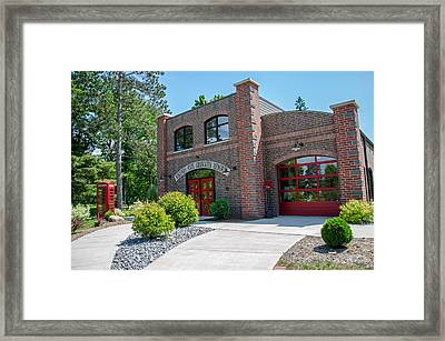 Framed Print featuring the photograph Wisconsin State Firefighters Memorial 6 by Susan  McMenamin