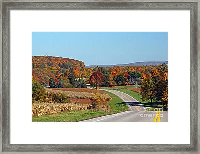 Framed Print featuring the photograph Wisconsin's Fall Color by Joan McArthur