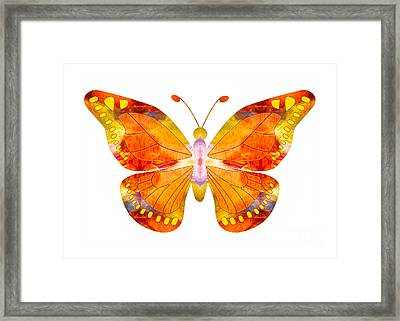 Wisdom And Flight Abstract Butterfly Art By Omaste Witkowski Framed Print