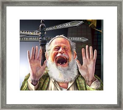 Wisdom Cries-out  Framed Print