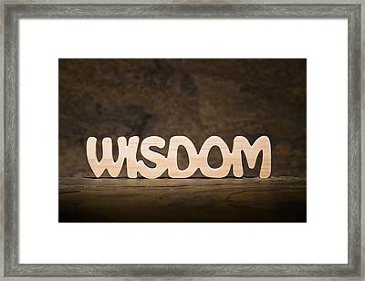 Wisdom Framed Print by Donald  Erickson
