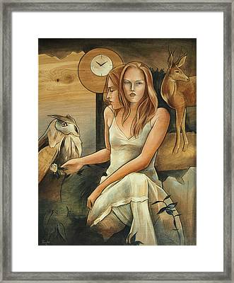 Wisdom Of The Hart Framed Print by Jacque Hudson