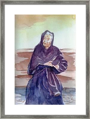 Wisdom Of Years Framed Print by Uma Krishnamoorthy