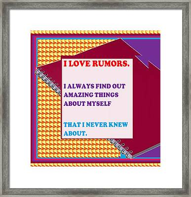 Wisdom Quote Rumors Artistic  Background Designs  And Color Tones N Color Shades Available For Downl Framed Print