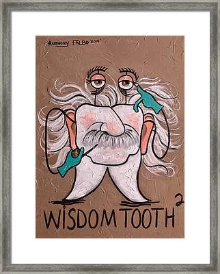 Wisdom Tooth 2 Framed Print by Anthony Falbo